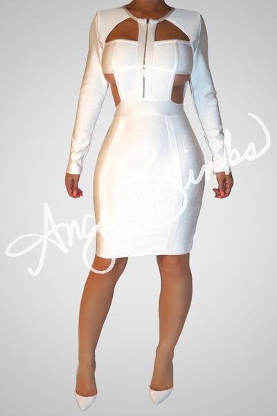 Colorless Bandage Angel Brinks Dresses Fashion Dress Skirt
