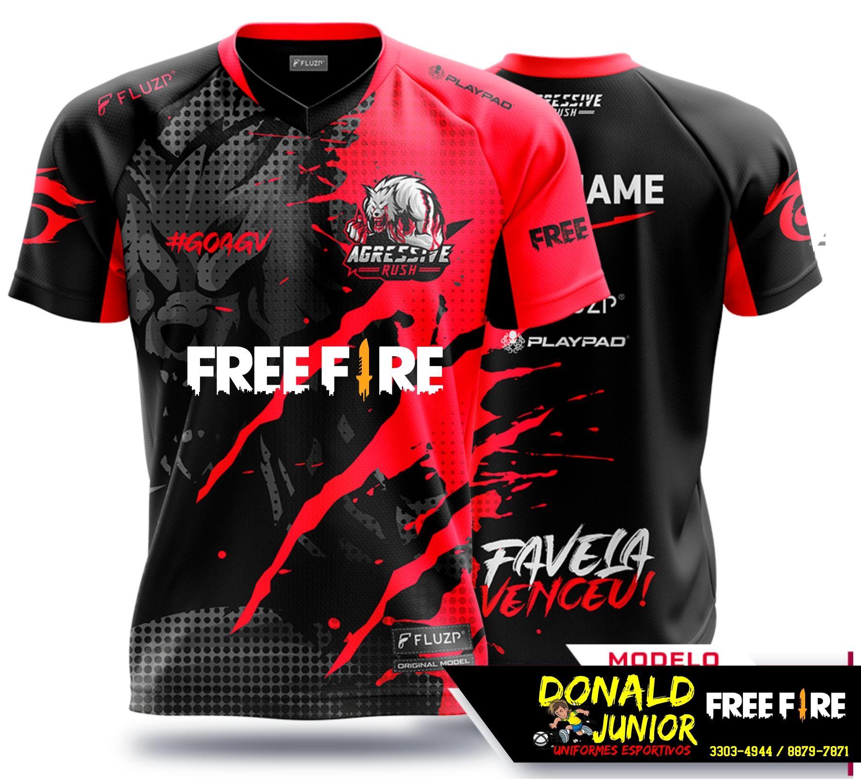 Download Camisas Free Fire Malha Dri Fit Impressao Digital Contato 86 98879 7871 Whatsapp Kaos Kemeja Desain