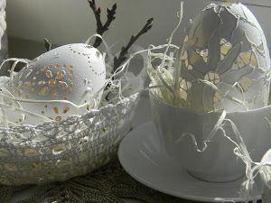 pisanka rzeźbiona w gęsiej wydmuszce http://przebudzenie-dorota.blogspot.com/