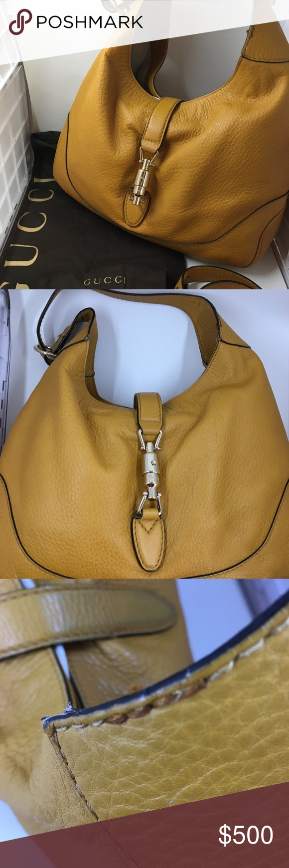 1f88d10eb60d Gucci Jackie hobo bag A Gucci classic, this yellow Jackie hobo is a great  everyday