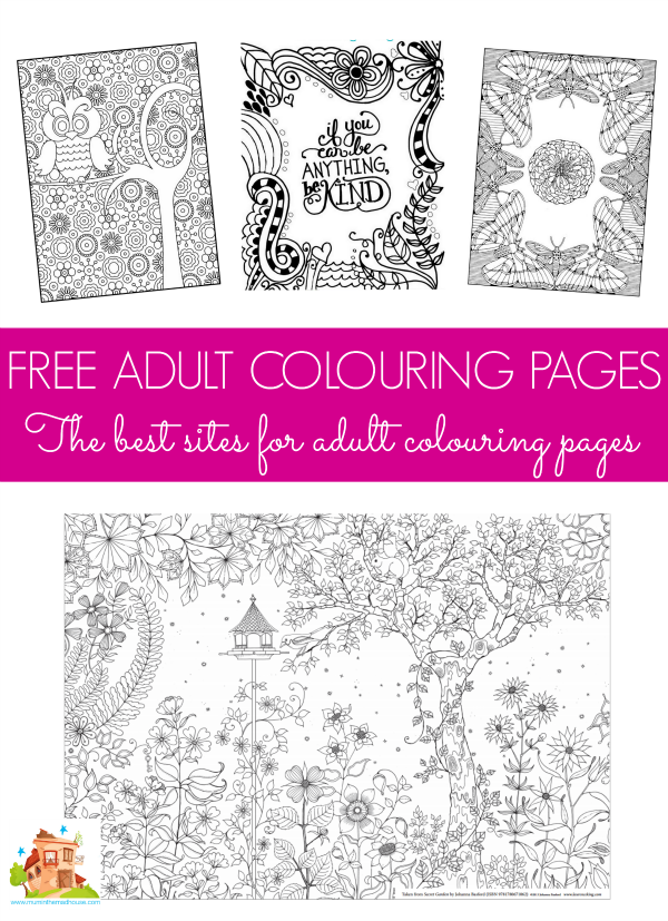 Free colouring pages for adults | Reduce stress and Adult coloring