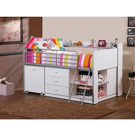Savannah Storage Loft Bed With Desk White Room Home Bed Bedroom Bedroom