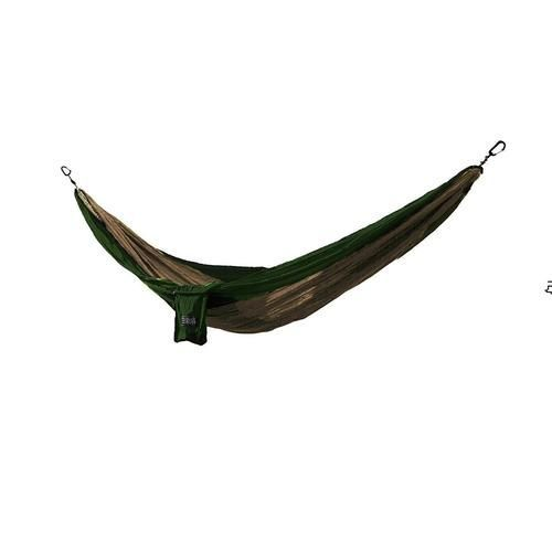 Osage River Twain Single Hammock - Khaki/Olive Green
