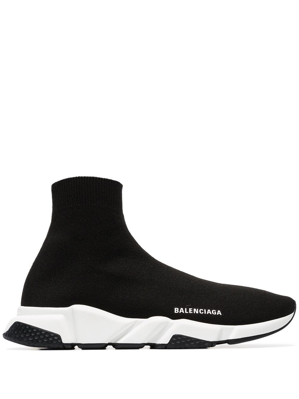 Balenciaga black Speed knitted high top sock sneakers in