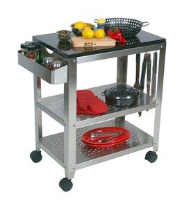 The Outdoor Kitchen Cart With Granite Top Is A Sleek And Functional Addition To Any Outd Outdoor Kitchen Countertops Outdoor Kitchen Outdoor Kitchen Appliances