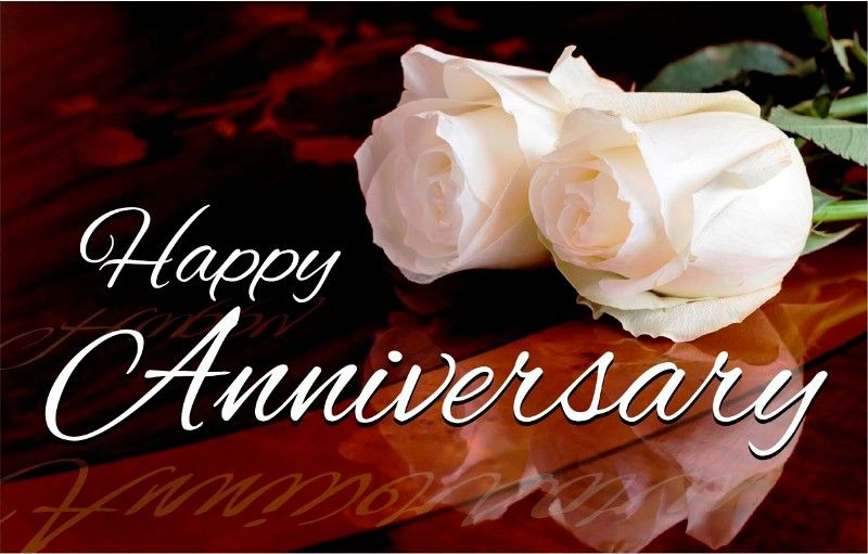 Happy Anniversary With White Roses Happy Wedding Anniversary Wishes Happy Wedding Anniversary Cards Happy Marriage Anniversary