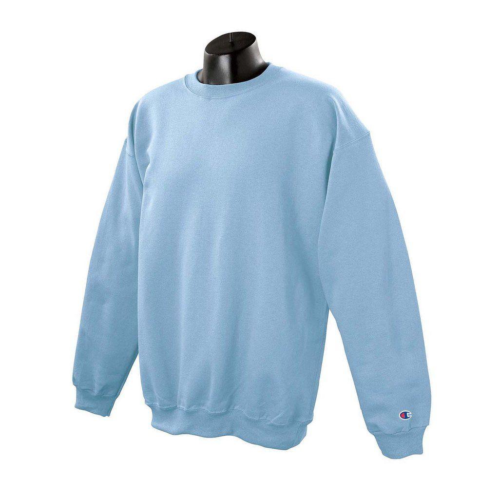 Champion Men S Light Blue Crewneck Sweatshirt Trendy Sweatshirt Sweatshirts Sweatshirt Outfit Winter