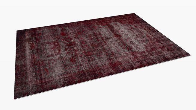 large preview of 3d model of natuzzi affresco red rug r849. Black Bedroom Furniture Sets. Home Design Ideas