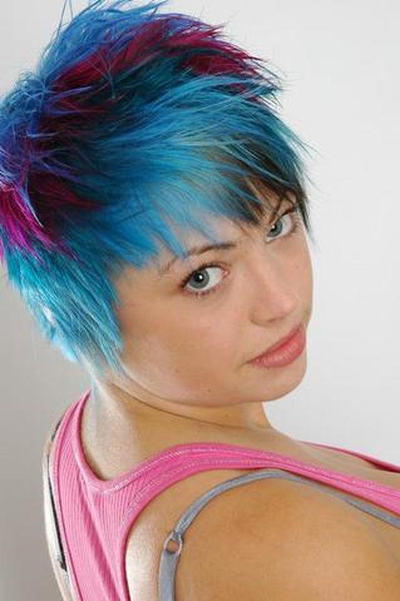 100 Crazy Hair Colour Ideas For Short And Medium Hair Pinterest