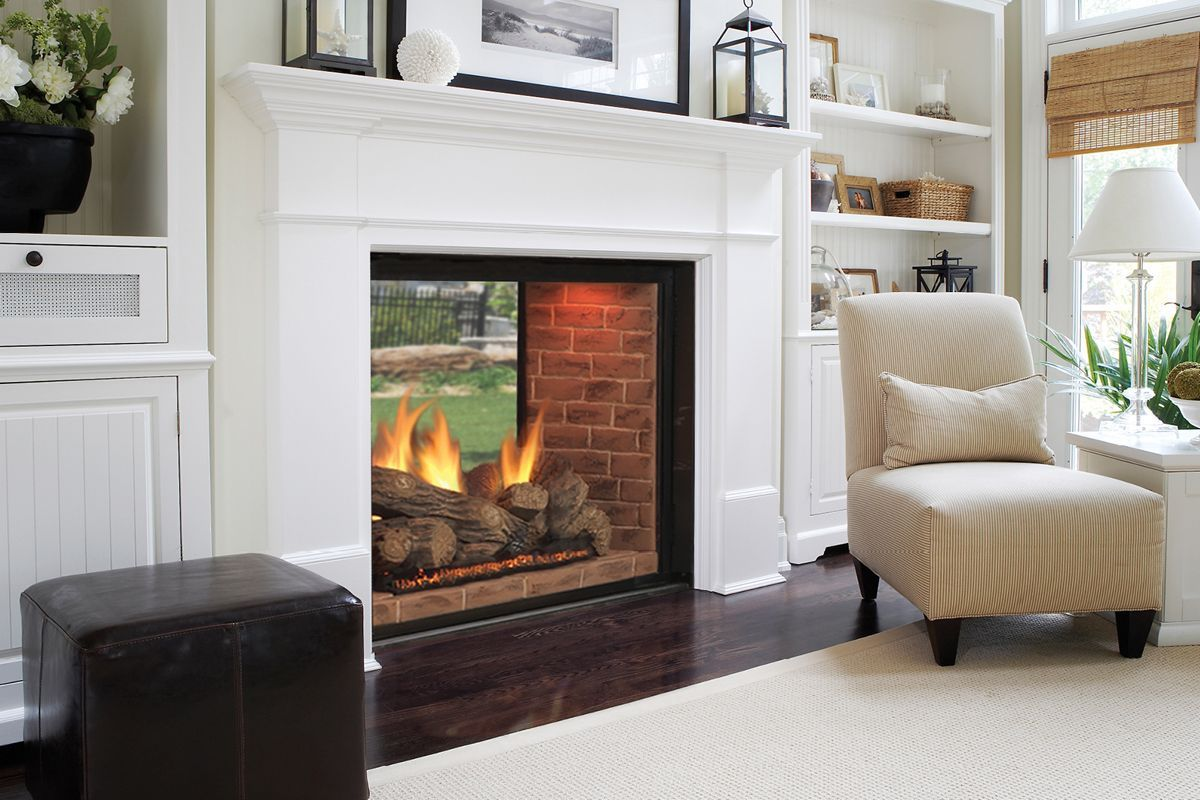 Image Result For See Through Fireplace Inside To Outside Built In Around Fireplace Vented Gas Fireplace White Fireplace