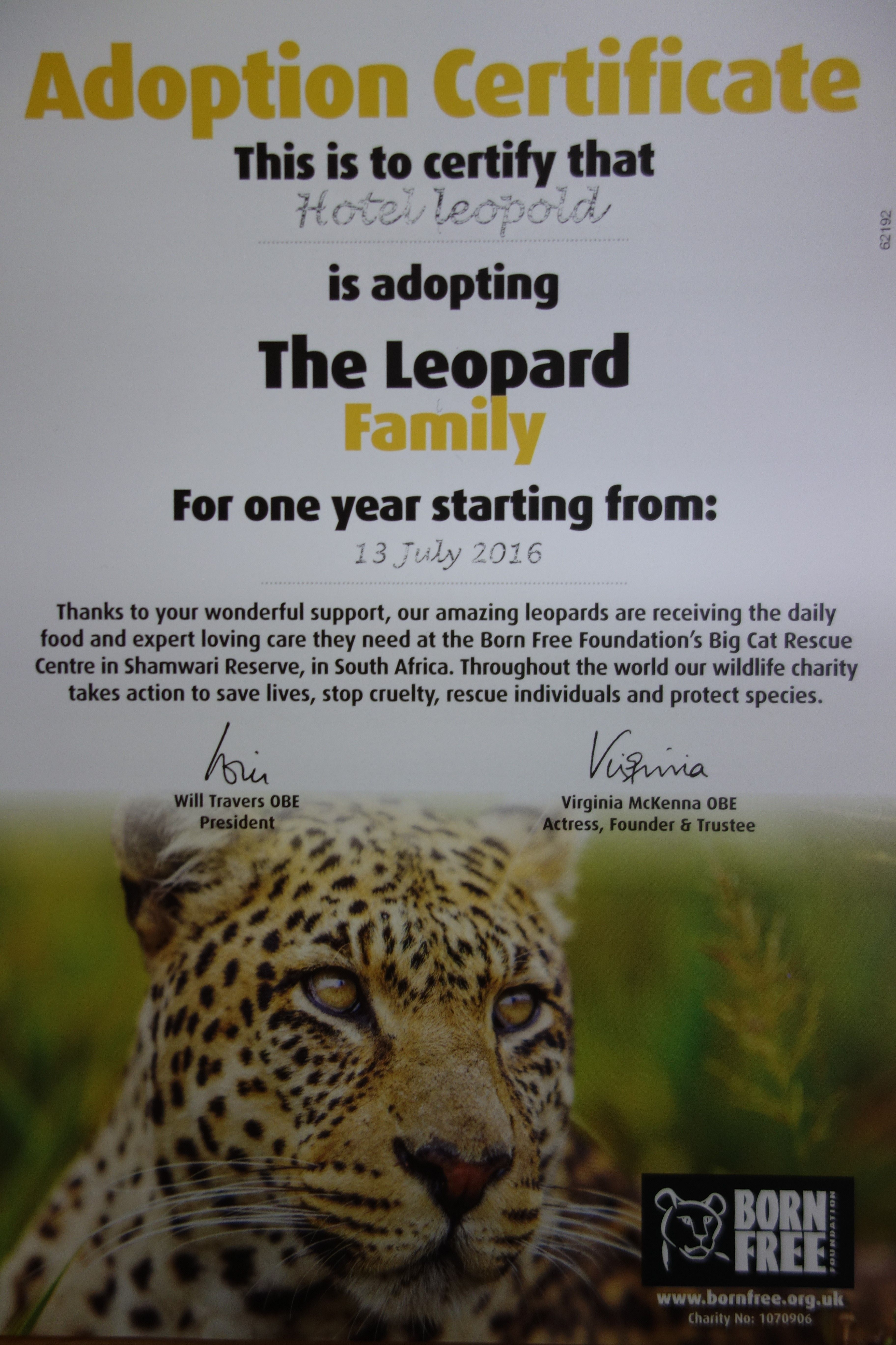 adopt an endangered animal for free