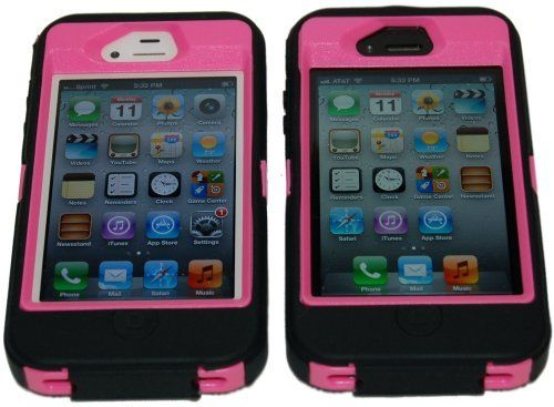 """Iphone 4/4s Body Armor Defender Case Black on Pink + Bonus Free USB Color Charging Cord & """"Save the Ta-tas"""" Silicon Band by Vaule Haven, http://www.amazon.com/dp/B008DH4KQW/ref=cm_sw_r_pi_dp_VSf6qb1MWYTYG"""