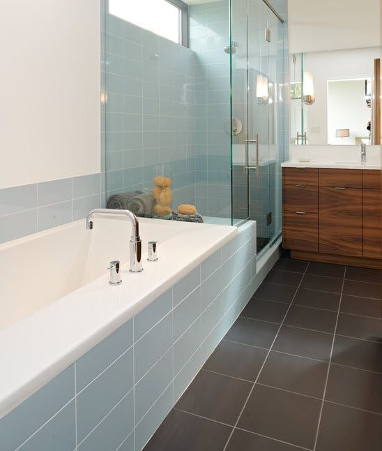 Marvelous 35 Duck Egg Blue Bathroom Tiles Ideas And Pictures Part 9