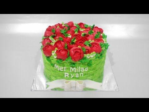 Basket Flowers Cake Decorating Easy For Beginners YouTube