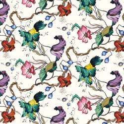 French Floral Colour Fabric