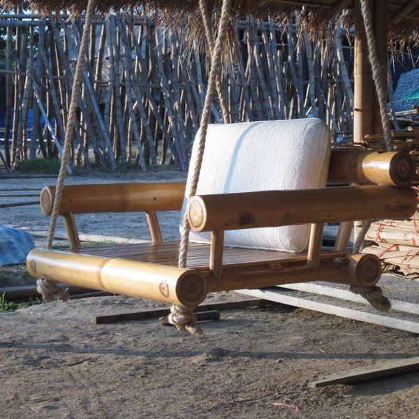 Furniture Bamboo Swing Utemiljoer Tradgard Pinterest Ideer Och