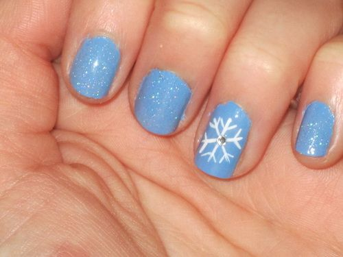 Easy Winter Nail Designs Nail Art Pinterest Winter Nails