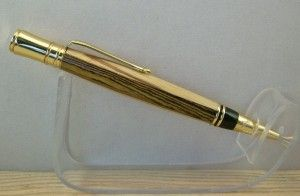 Or maybe you're into a more traditional material; this Executive style pen is laminated from Zebrawood and Bocote.