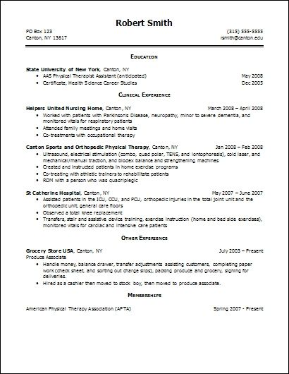 Resume Help Examples Recreational Therapist Term Paper Physical
