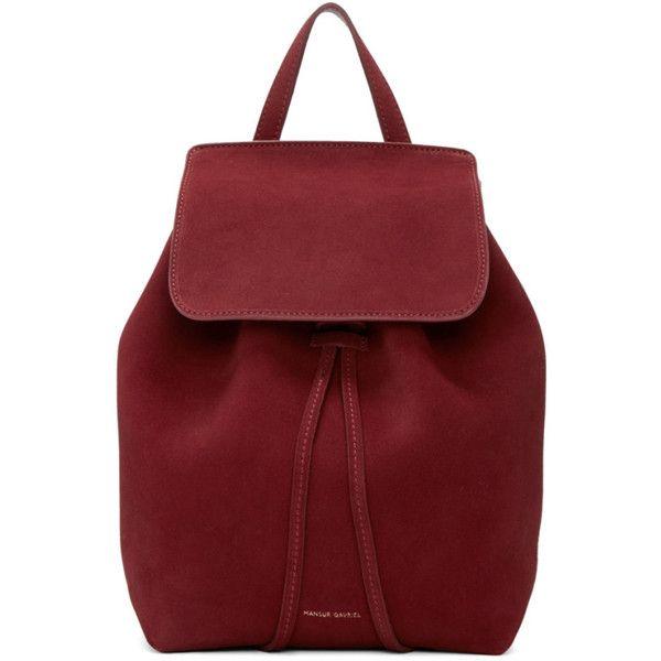 a16d6b3fa39e Mansur Gavriel Burgundy Suede Mini Backpack (10