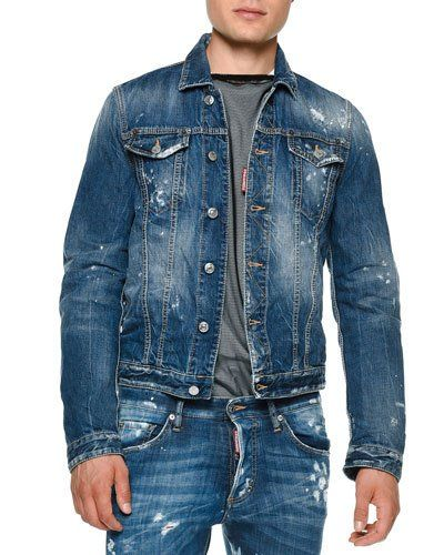 Good Selling Choice For Sale Blue destroyed denim shirt Dsquared2 Shop For Sale Online eO5hdIy