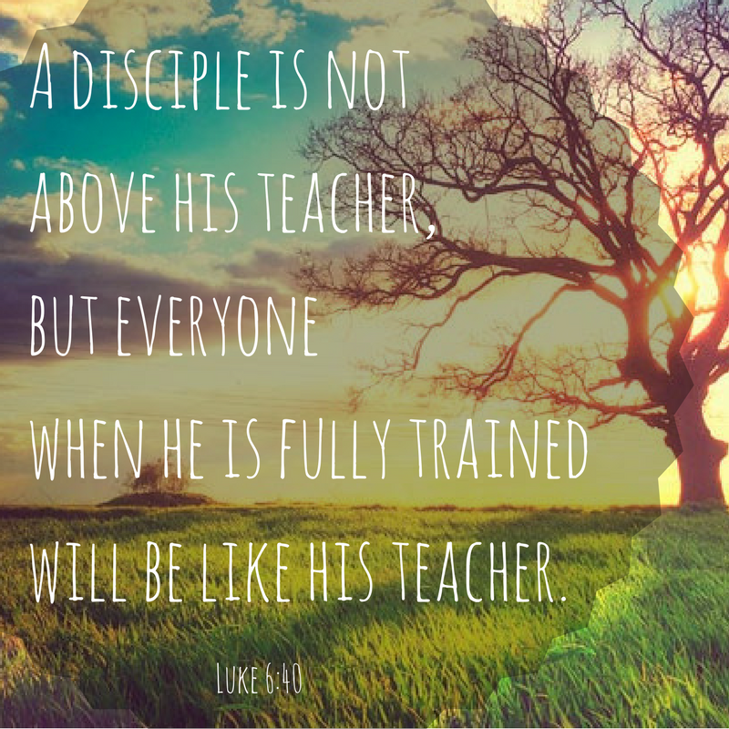 A disciple is not above his teacher, but everyone when he is fully trained will be like his teacher. - Luke 6:40 #ScriptureSunday
