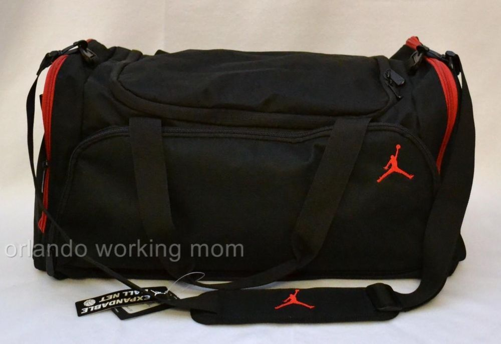 Nike Air Jordan Duffel Bag Black Red Gym Basketball Duffle Men Women Boy  Girl  Nike  DuffleGymBag  OrlandoTrend  Jordan  Jumpman  Basketball 8c1b00c4f5c69