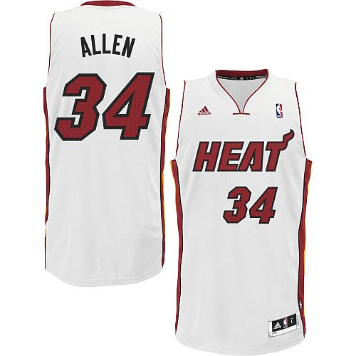 d6fcbdb2e ... adidas nba miami heat 34 ray allen new revolution 30 swingman home  white jersey