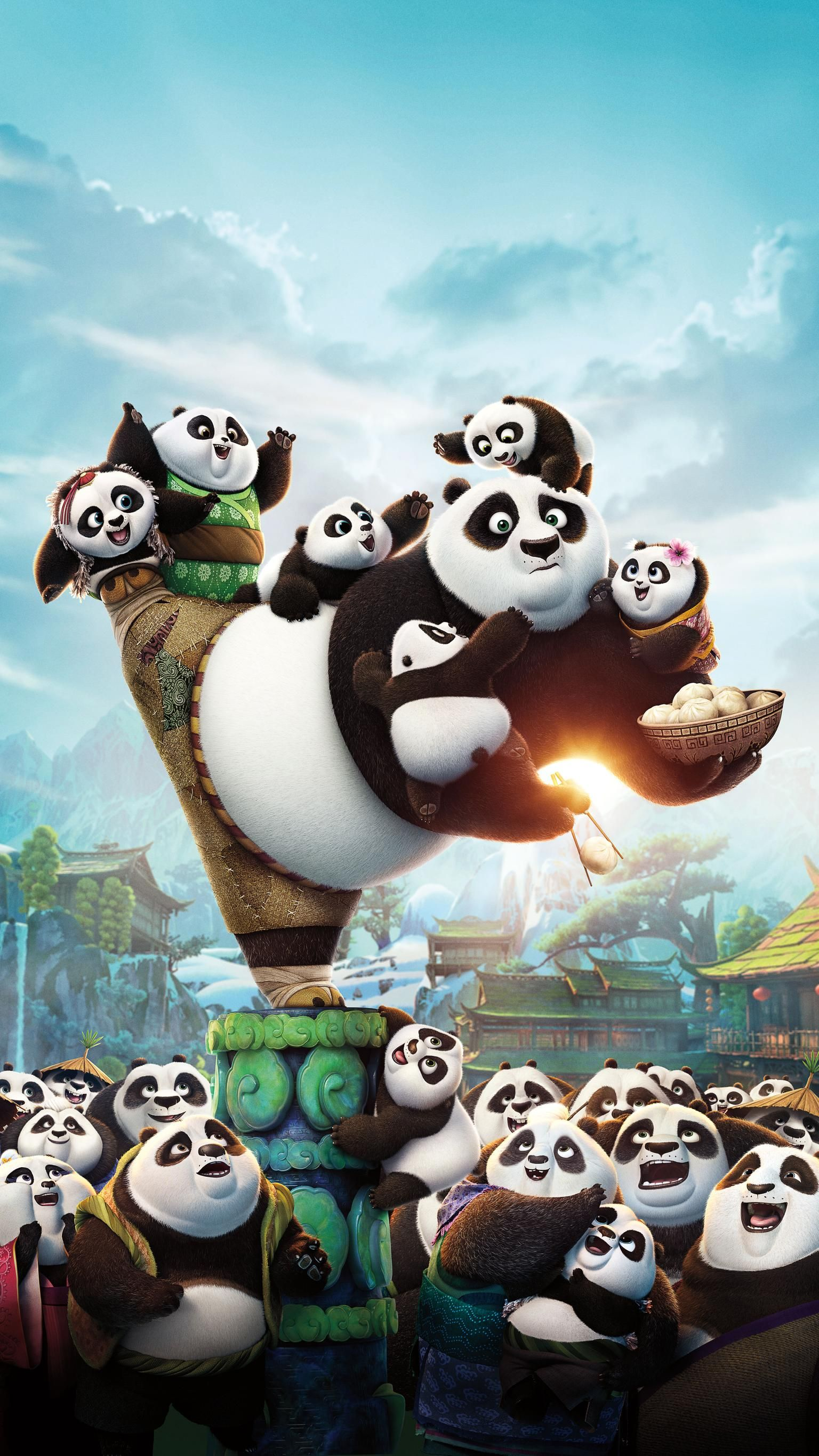 Kung Fu Panda 3 2016 Phone Wallpaper Moviemania Kung Fu Panda 3 Disney Wallpaper Cute Disney Wallpaper