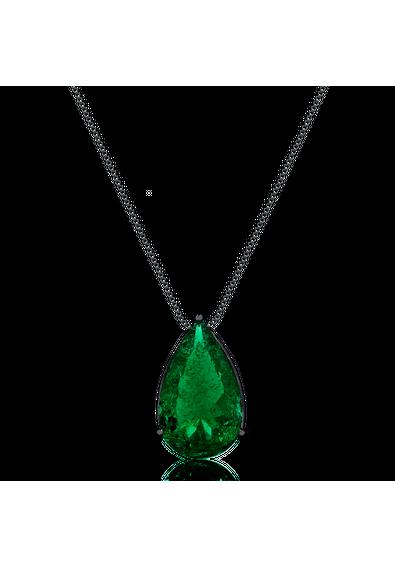 2229daadb99706 colar-gota-esmeralda-fusion-semijoias-rodio-negro | Jewellery in ...