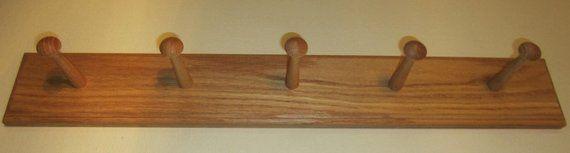 Best Wall Mounted Coat Rack Oak Shaker Peg Rail Shaker Bar 7 400 x 300