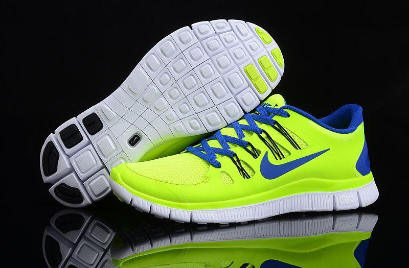 Herren Nike Free Run 5.0 Schuhe Green Fluorescent | Nike