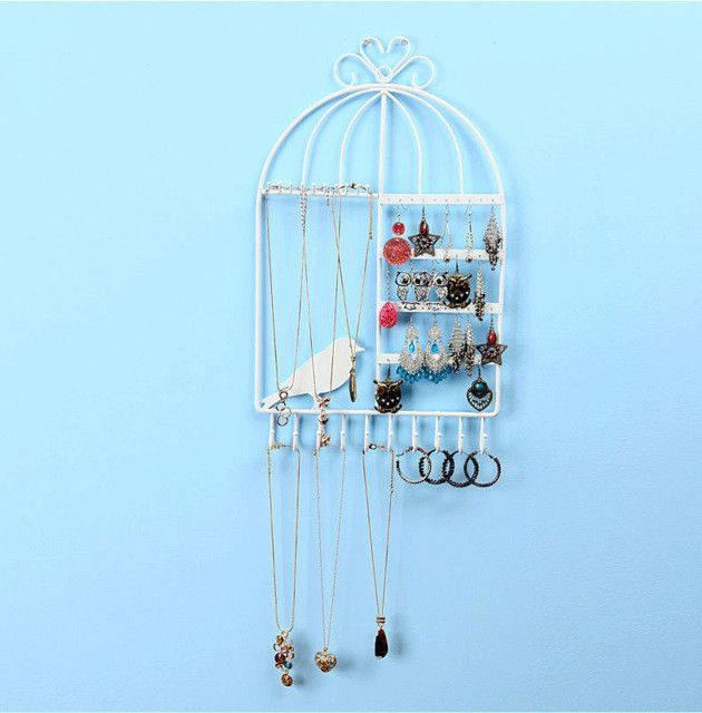 Wrought Iron Jewelry Display Shelf Frame Earrings Necklace Holder Stud Earring Accessories Storage Rack Jewelry Necklace Shelves
