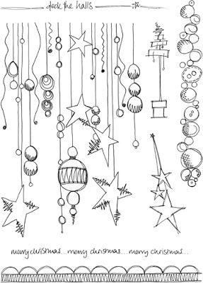 weihnachts doodle mit sternen doodle verzierungen. Black Bedroom Furniture Sets. Home Design Ideas