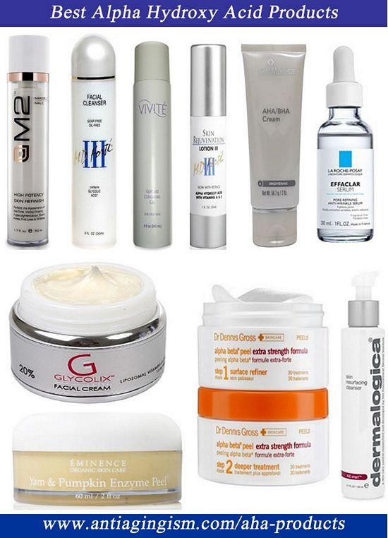 aha skin care products