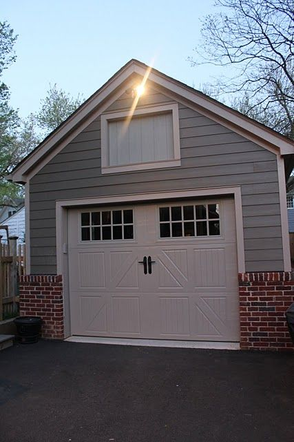 Houseography House Tour Room By Room Link Up Party Garage Brick Exterior House Garage Exterior Garage Door Design