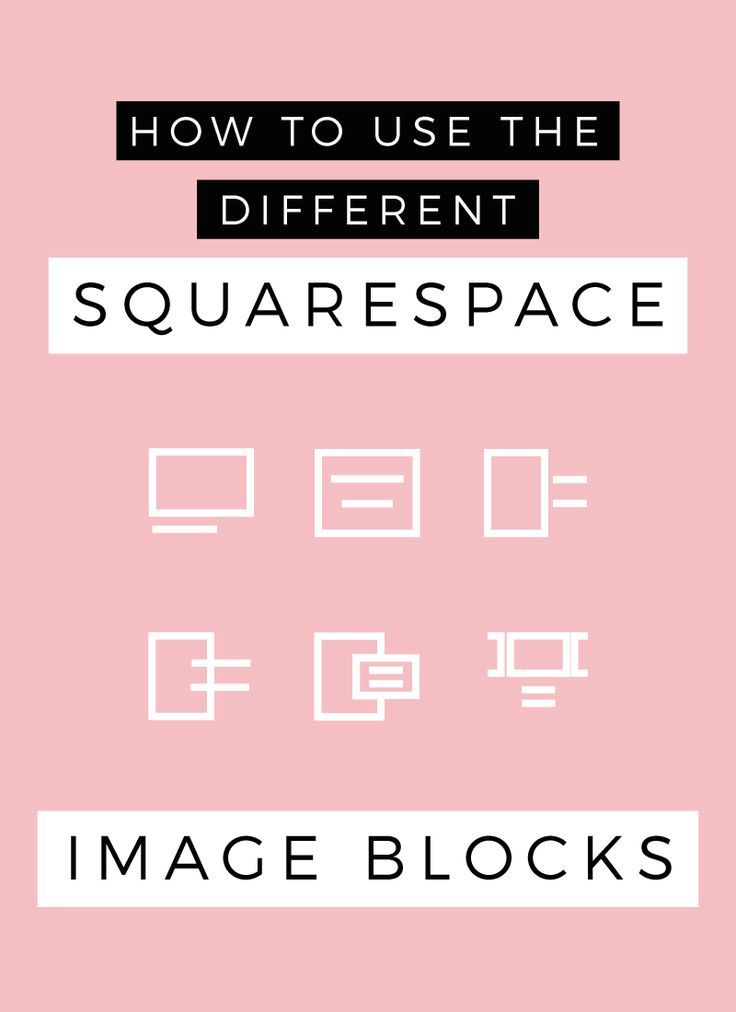 I am very excited to be sharing all the different ways you can use the Squarespace Image blocks. Squarespace has just added a variety of different ways to use the Image block and I am super excited, it's actually made my job as a designer easier!! So in this blog post, I will be showing yo