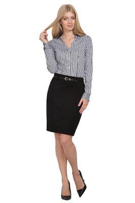 5c4c14f604d Faldas Elegantes para Oficina | modelo 2 | Faldas elegantes, Faldas ...