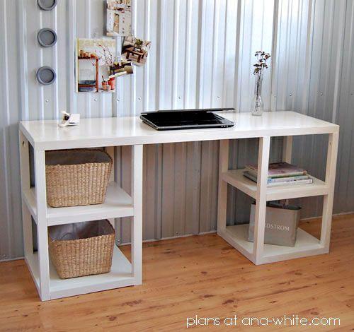 Parson Tower Desk Diy Furniture Plans Diy Computer Desk Diy Desk