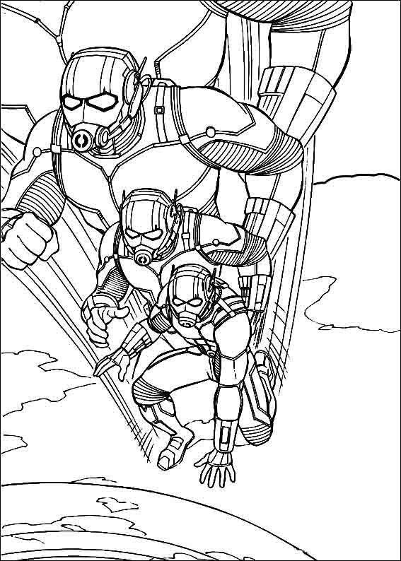 Dibujos para Colorear Ant-Man 7 | Dibujos para colorear para niños ...