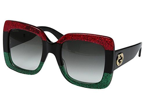 a8380a19d4 Gucci GG0083S 001 Red-Black With Grey Gradient Lenses 55MM Sunglasses