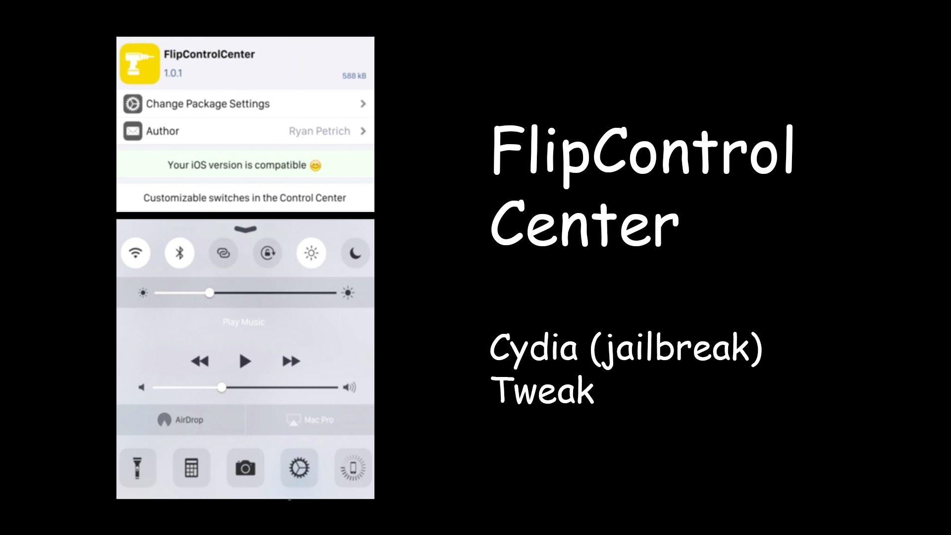 FlipControlCenter Customizable Control Centre (Cydia