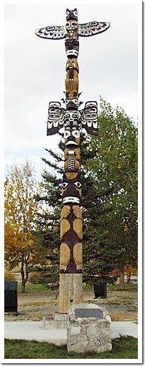 Friendship Totem Pole - Wishing Unity And Friendship Among All Yukoners