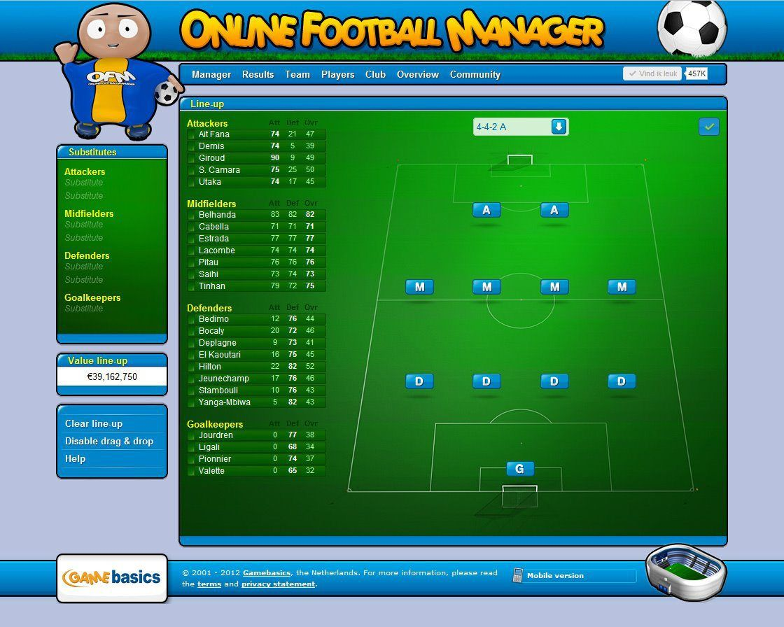 Myfootballmanager Net Is One Of The Best Online Football Manager Game Register And Become Manager Of Your Football Manager Football Manager Games Team Player