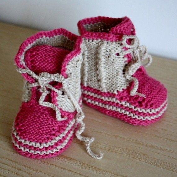 Knitting PATTERN (pdf file) Baby Twist Booties (0-6/6-12 months ...