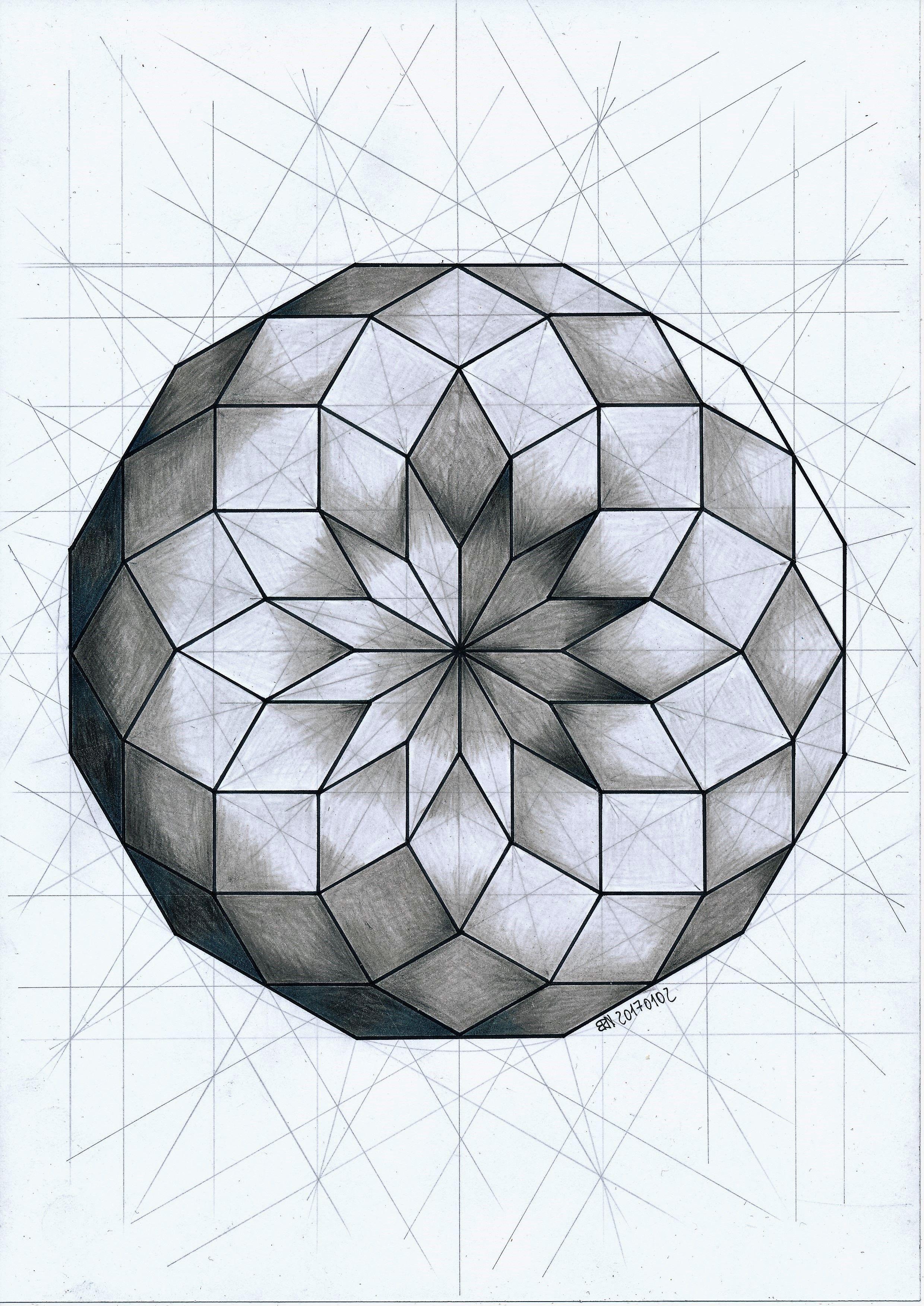 Geometric Circle Patterns Simple Ideas