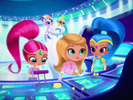 Shimmer and shine episodes games videos on nick jr - Sparkle and shine cartoon ...