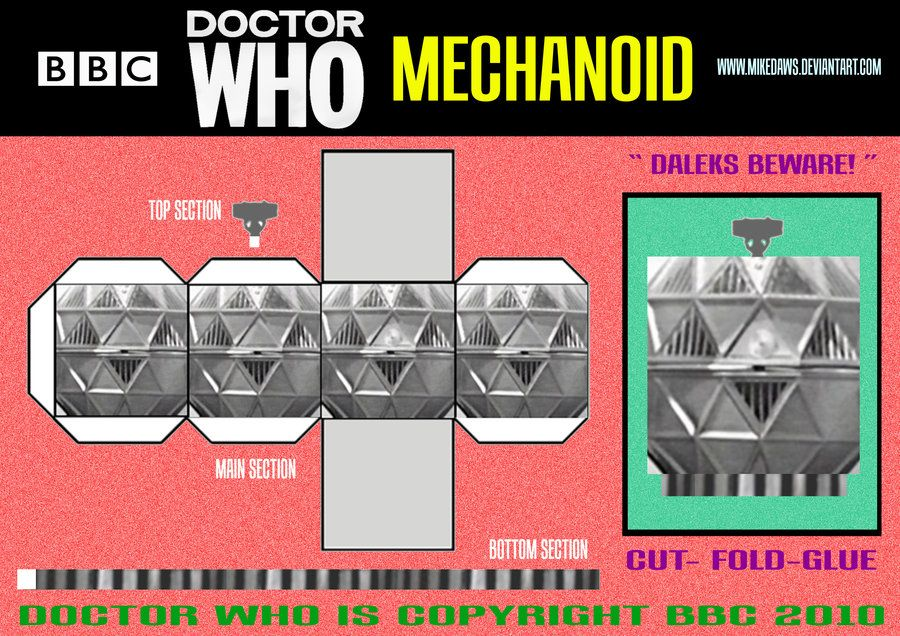 doctor_who__mechanoid_by_mikedaws.jpg 900×636 pixels
