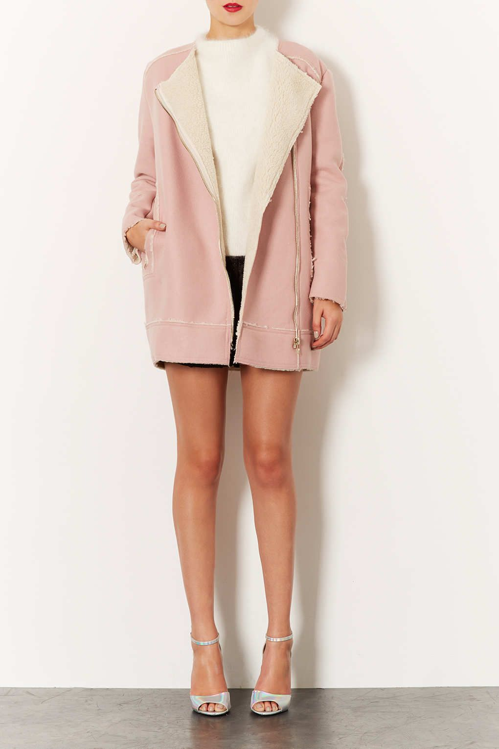 Premium Wool Lined Biker Coat - Jackets & Coats - Clothing - Topshop
