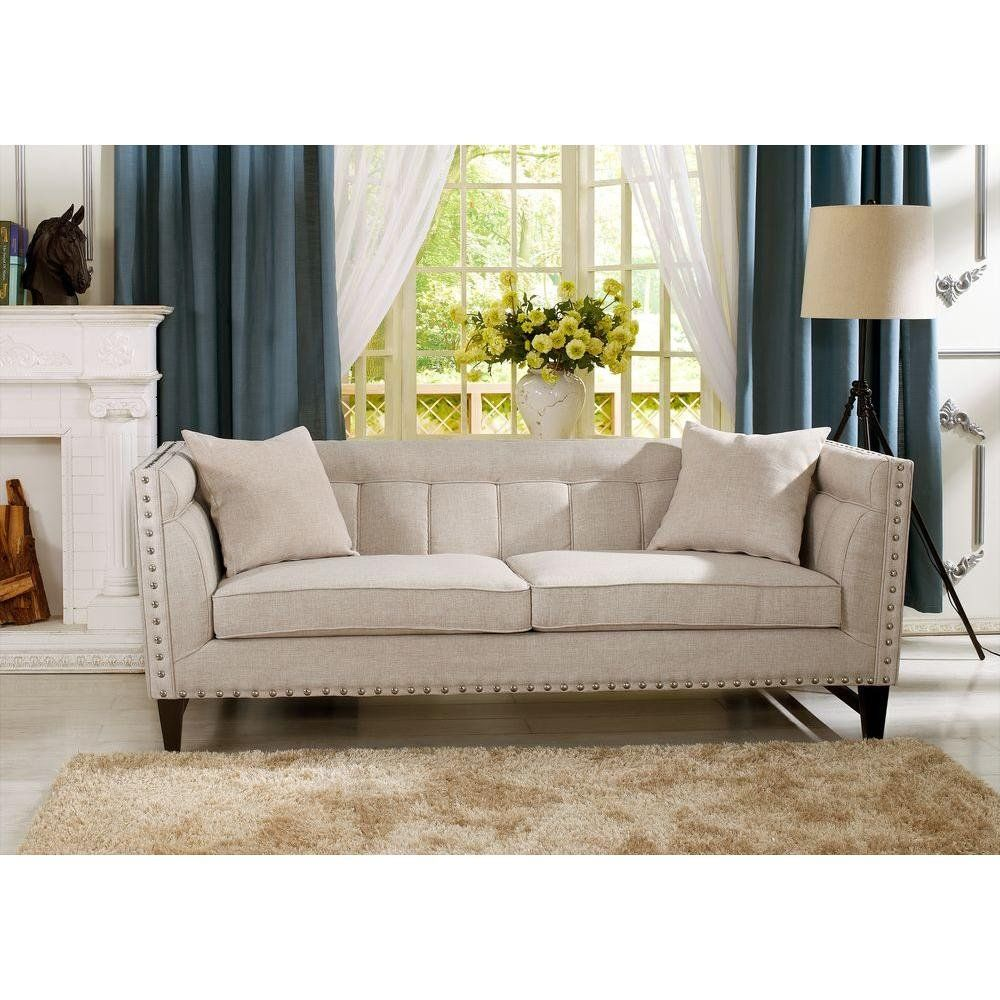 31 Pieces Of Stylish Decor You Won T Believe Came From The Home Depot Modern Linen Sofa Furniture Modern Sofa